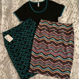 LuLaRoe Classic T and Cassie Skirt Outfit